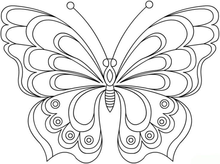 ausmalbilder schmetterling  basteln  butterfly