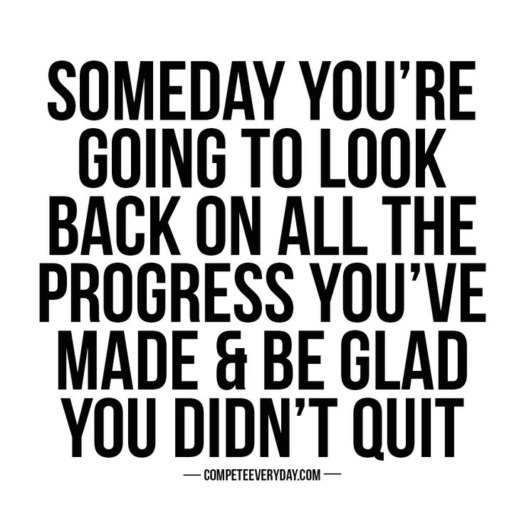 Don't give up one day before you win.