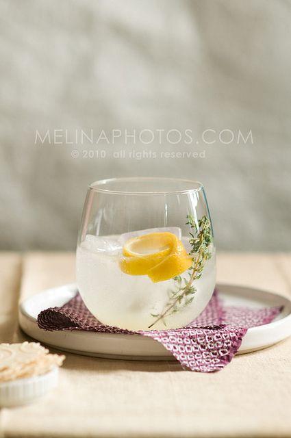 lemon-thyme cocktail