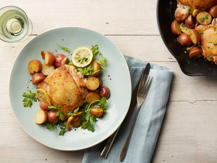 Lemon-Garlic Skillet Chicken and Potatoes