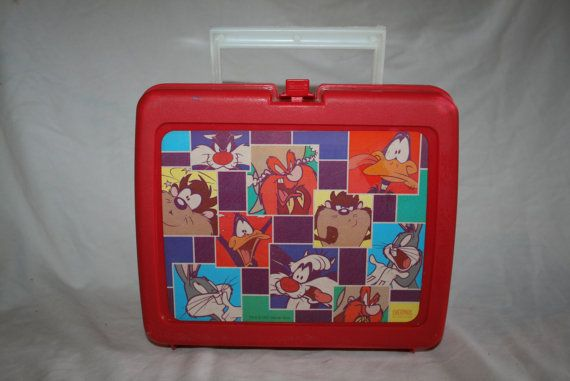 Vintage Looney Tunes Thermos plastic lunch box by TheGeekitarium