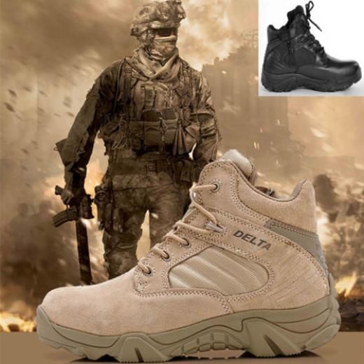 Men's Outdoor Desert Combat Ankle Boots Military Tactical Footwear Hiking Shoes Medium (d M) Suede Solid China Slip Resistant Waterproof Eur 39-eur 45 Lace Up