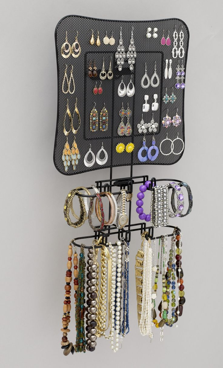 Jewelry Wall Organizer 69 Best Wall And Overdoor Jewelry Organizers Jewelry Boxes Too