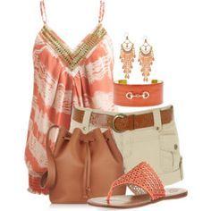 Coral & Khaki