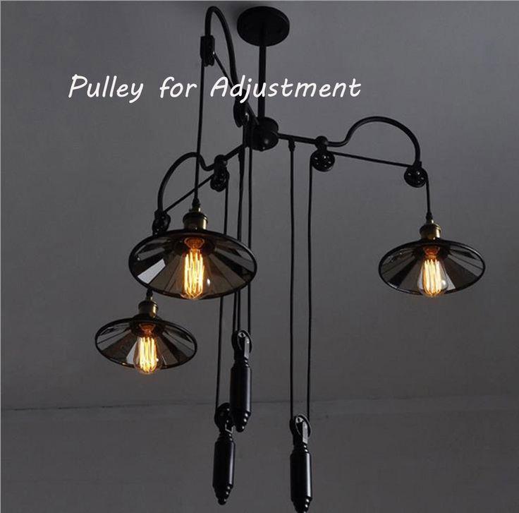 Pas cher mode aemrican nostalgique style r tro pays pendentif industrielle su - Lampe suspendue industrielle ...