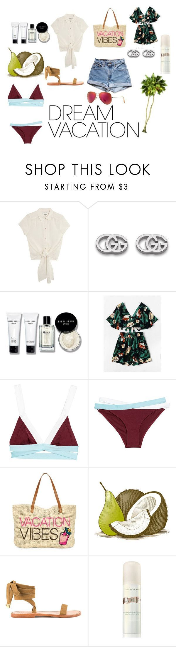 """Vacation In Mexico"" by izabella-belski ❤ liked on Polyvore featuring Levi's, Gucci, Bobbi Brown Cosmetics, INC International Concepts, Dsquared2, La Mer and Ray-Ban #vacationoutfitsmexico"