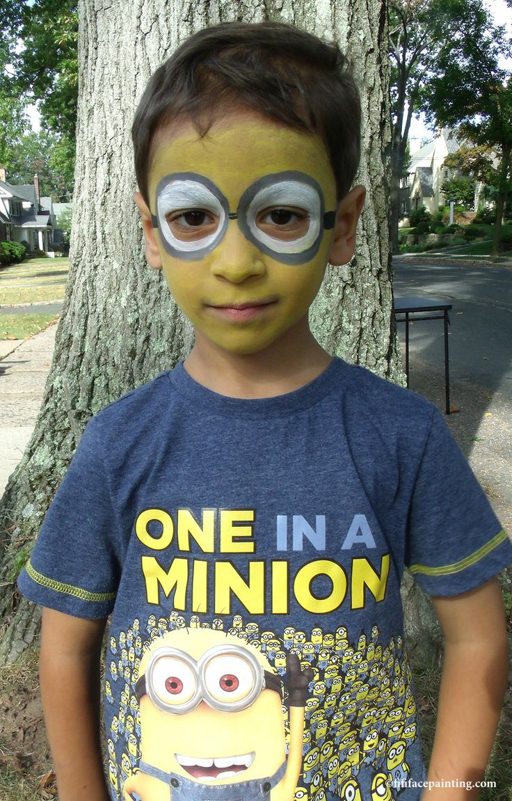 Minion Face Paint - www.fififacepainting.com