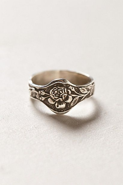 This finely detailed, engraved silver ring was inspired by the mysticism and simple elegance of the medieval period.