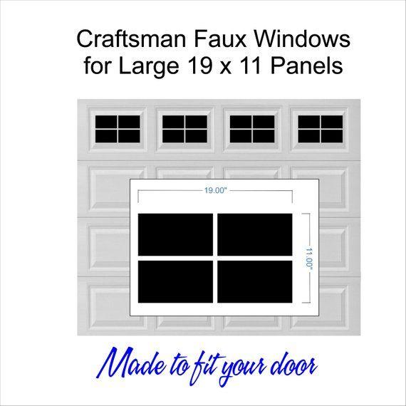 Craftsman Style Vinyl Garage Door Decal Kit Faux Windows Only For 19 X 11 Panels Diy Garage Doors Single Garage Door Double Garage Door