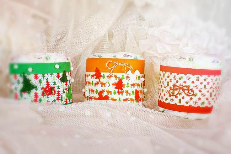 christmas gift No. 2 - mini diaper cakes