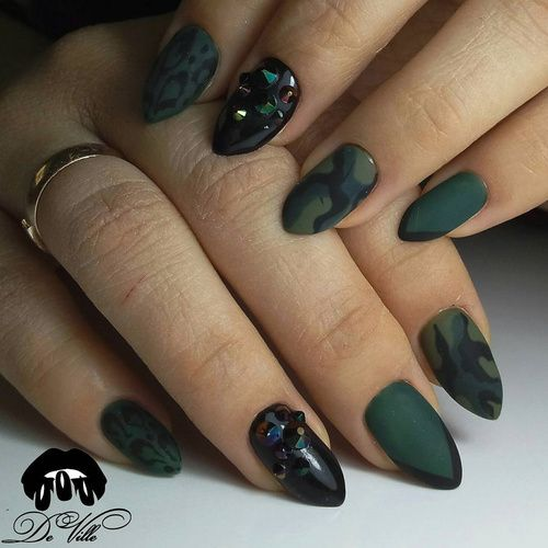 This time we show you green nails - solid and with creative designs. Look  at those greenery, olive green, mint and lime shades, and feel spring vibes  right ... - 33 Best Green Nails Olive Nails Lime Green Nail Designs Images