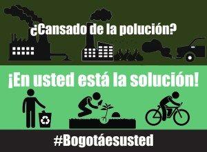 #BogotaesUsted ¿Cansado de la contaminación?