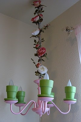 Flower Pot Chandelier: Diy Flowers, Flowers Pots, Flower Pots, Fake Flowers, Kid