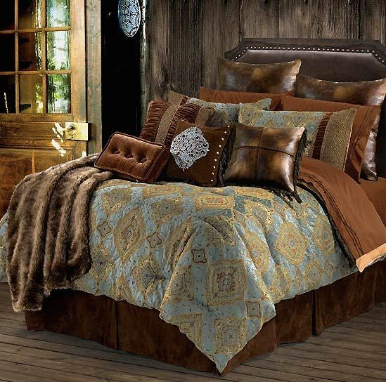 our bianca western bedding set features rich textures velvety soft micro suedeu2026