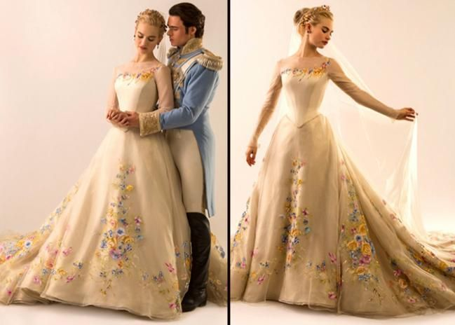 Cinderella 39 s wedding dress from the movie 2015 google for Cinderella inspired wedding dress