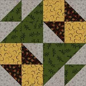 School Girl's Puzzle Quilt Block Pattern