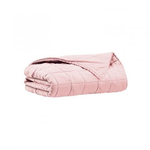HBC - Couvre lit 2 personnes dessus de lit Dela - Rose-Blush - 260x260 cm