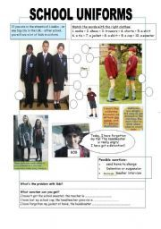 English Worksheets: SCHOOL UNIFORMS