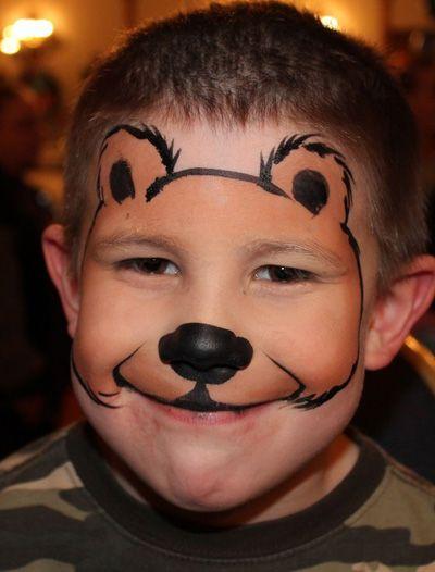 Trucco del viso per Carnevale per bambini da orso