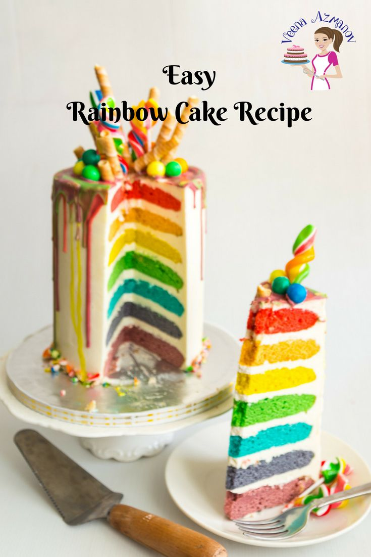 A Rainbow Cake Is A Fun Kids Birthday Cake Like This Seven Layer