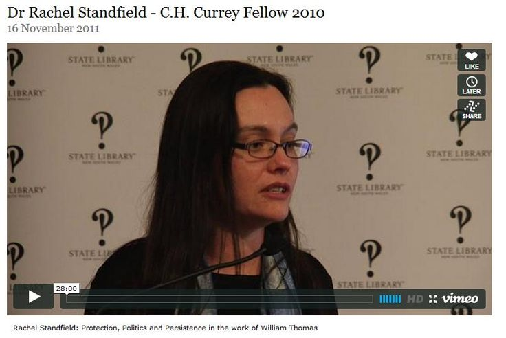 Rachel Standfield, C.H. Currey Fellow 2010 examines the career of William Thomas, Assistant Protector and Guardian of Aborigines in Victoria from 1839 to 1860. Thomas's role was crucial in the development and implementation of policies to manage relations with Indigenous people in colonial Victoria.