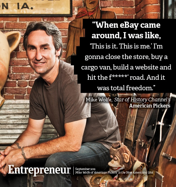 Mike Wolfe of 'American Pickers' Is the New Americana Idol | http://www.entrepreneur.com/article/220176