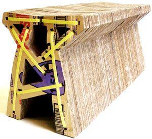 Cardboard Bench by Jason Iftakhar  Prototype