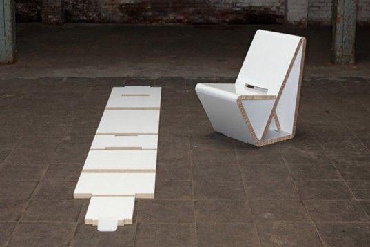 Stolička VouwWow VW01z recyklovanej voštinovej dosky  Výrobca Thonet, dizajn Nuy of NOORT