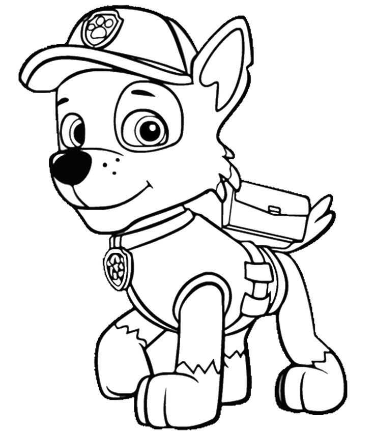 paw patrol coloring printable sketch coloring page