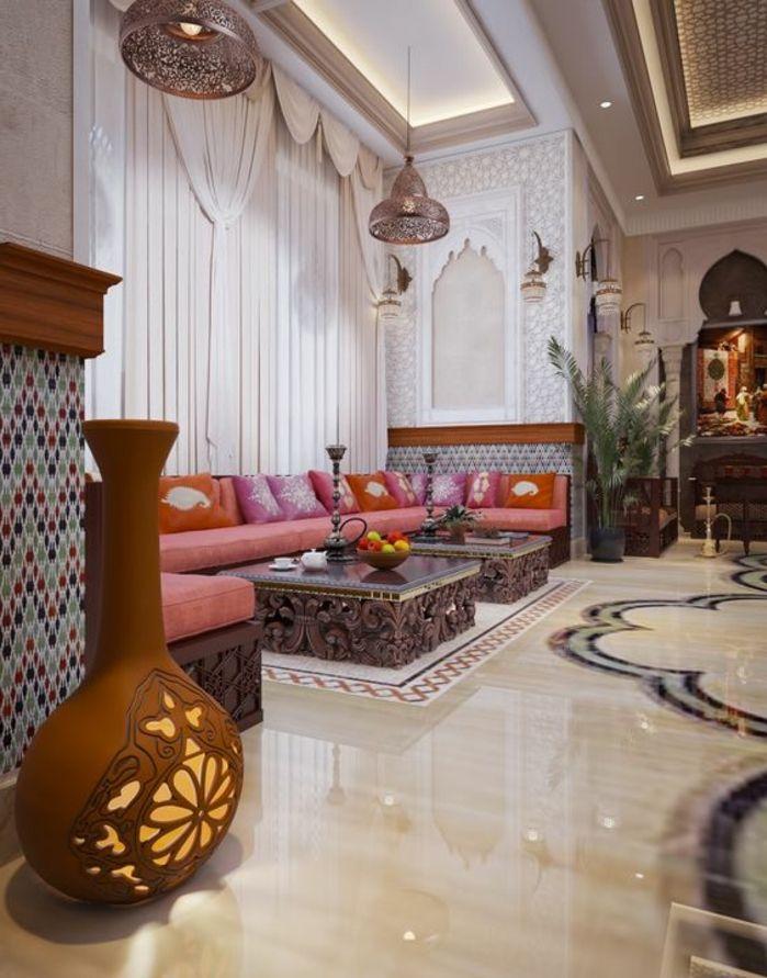 Orientalisch Modernes Wohnzimmer