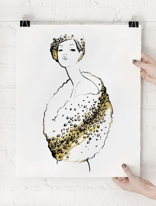 Le Glamour Art Print, Limited Edition of 75