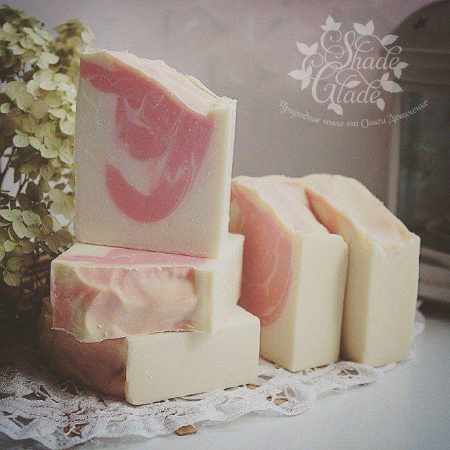 """Натуральное мыло с нуля """"Розовый шелк"""""""