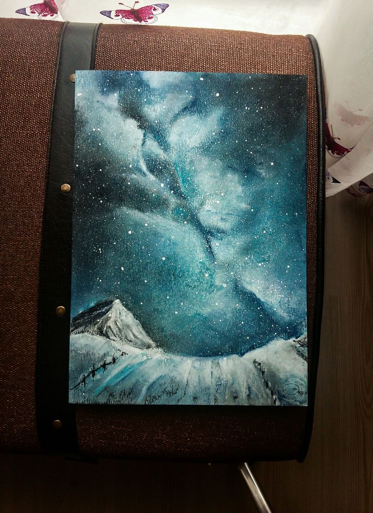 Galaxy art soft pastel