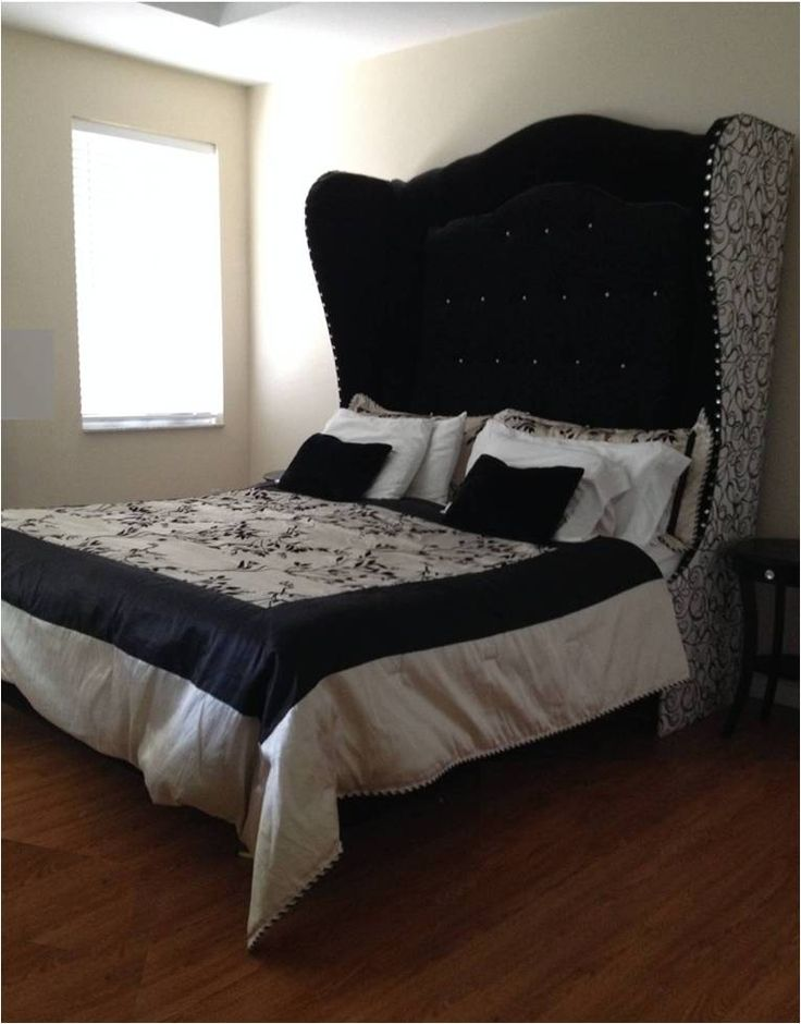 17 Best Images About Black Amp White Tufted Winged Headboard