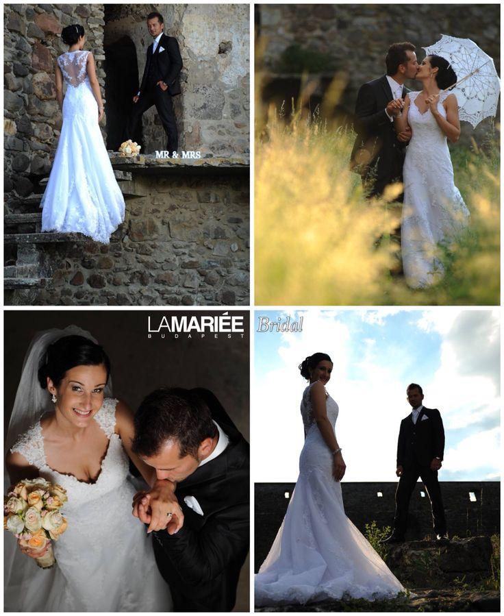 Marta bride by La Mariée Budapest bridal   #Laren dress by Pronovias