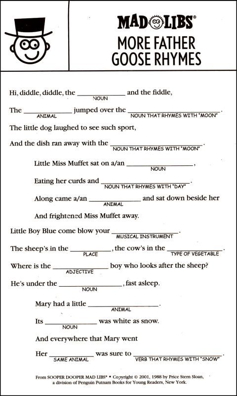 Sooper Dooper Mad Libs | Additional Photo (Inside Page)