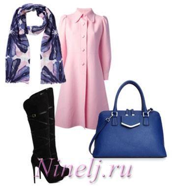 Подобрать шарф к розовому пальто