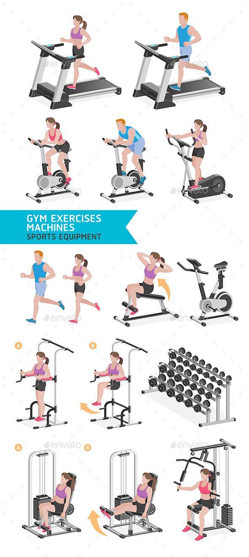 Gym Exercises Machines Sports Equipment