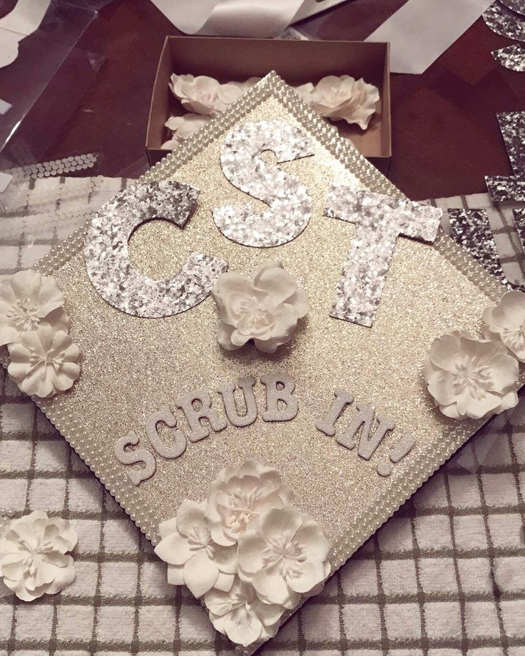 Surgical Tech  EXTRA sparkly Graduation Cap DIY