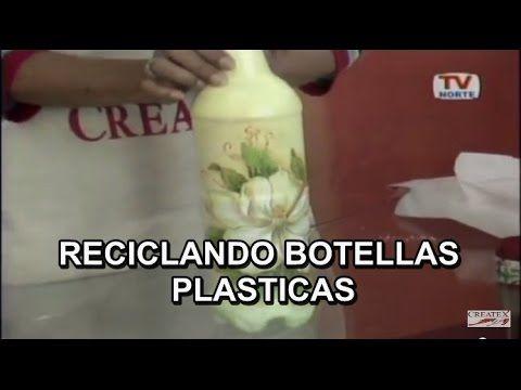 Decoupage, Sobre plastico. - YouTube