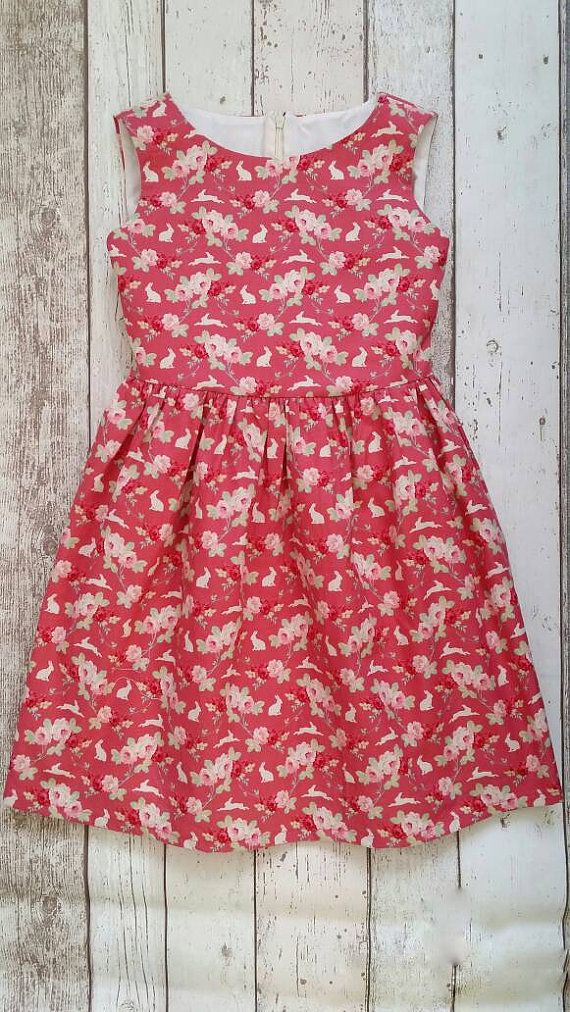 Check out this item in my Etsy shop https://www.etsy.com/uk/listing/504628995/girls-pink-dress-rabbit-dress-party