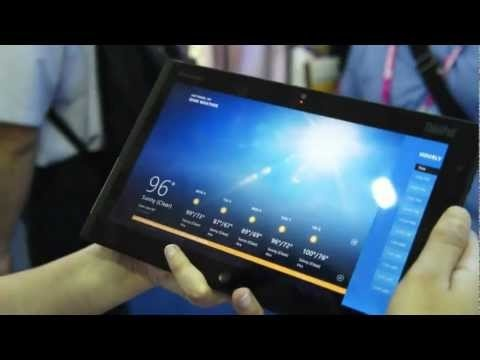 Windows 8 Lenovo ThinkPad tablet video