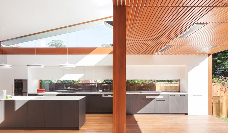 Kitchen design for new addition to Federation period home in Annandale, Sydney