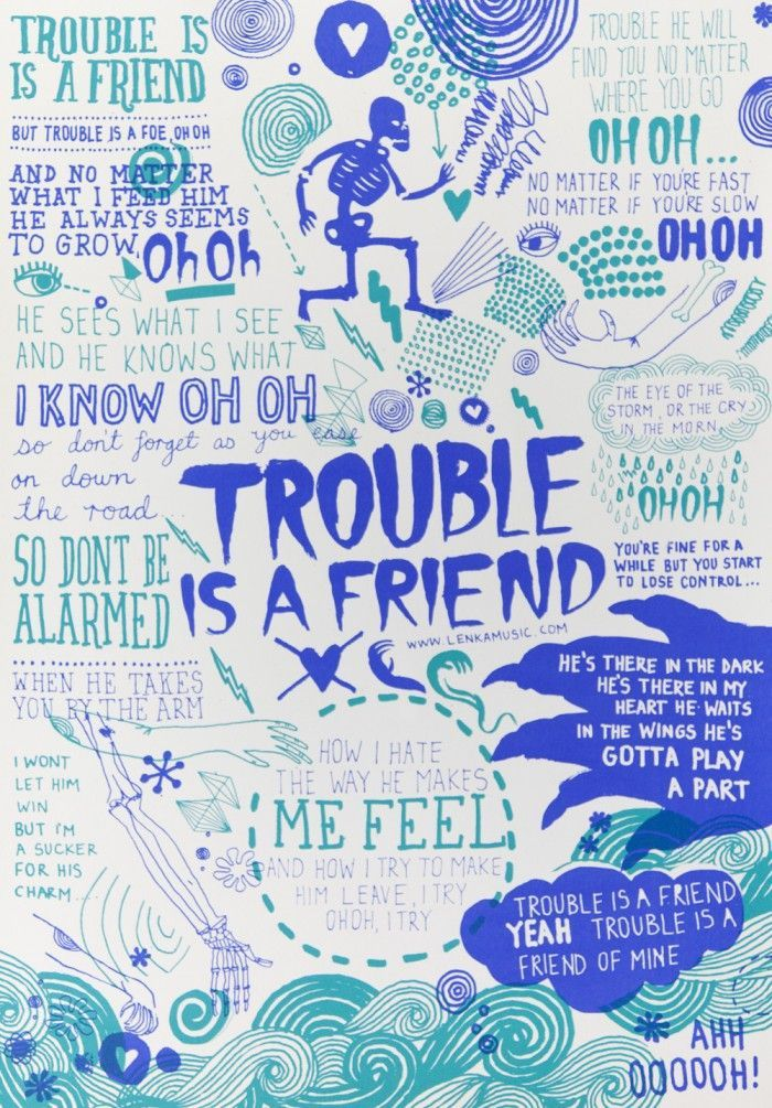 "passenger music posters | Lenka - ""Trouble Is A Friend"" (James Gulliver Hancock)"