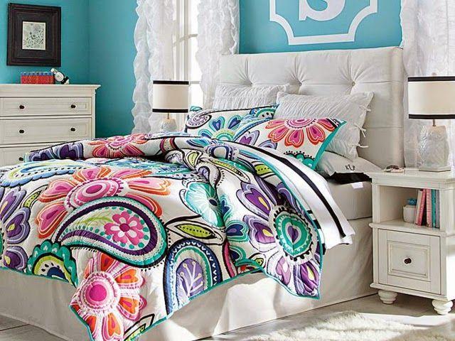 Dormitorios florales para chicas