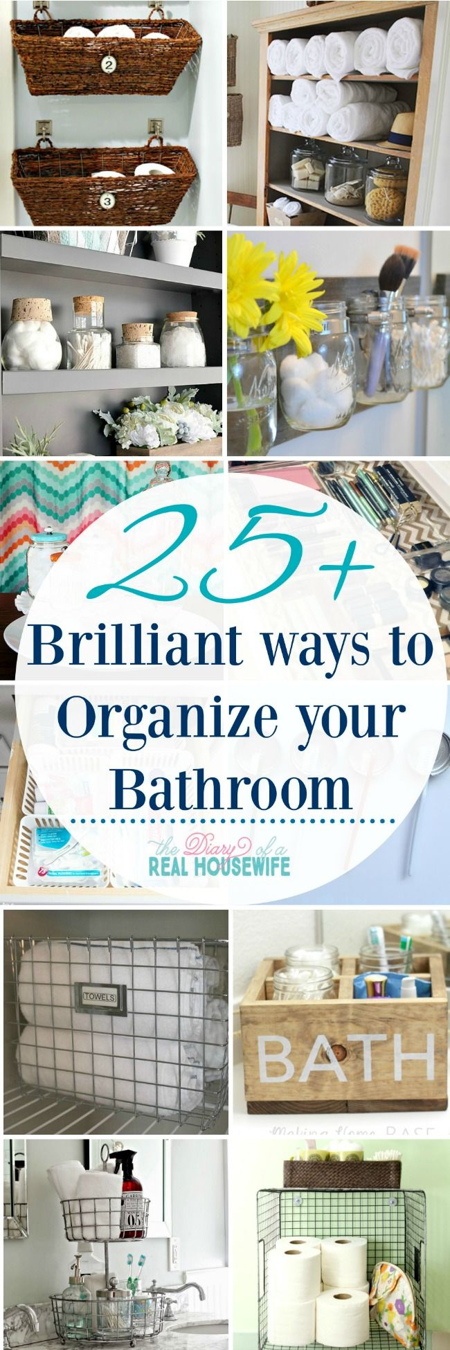 25 best ideas about organize bathroom closet on pinterest for Best way to organize your closet