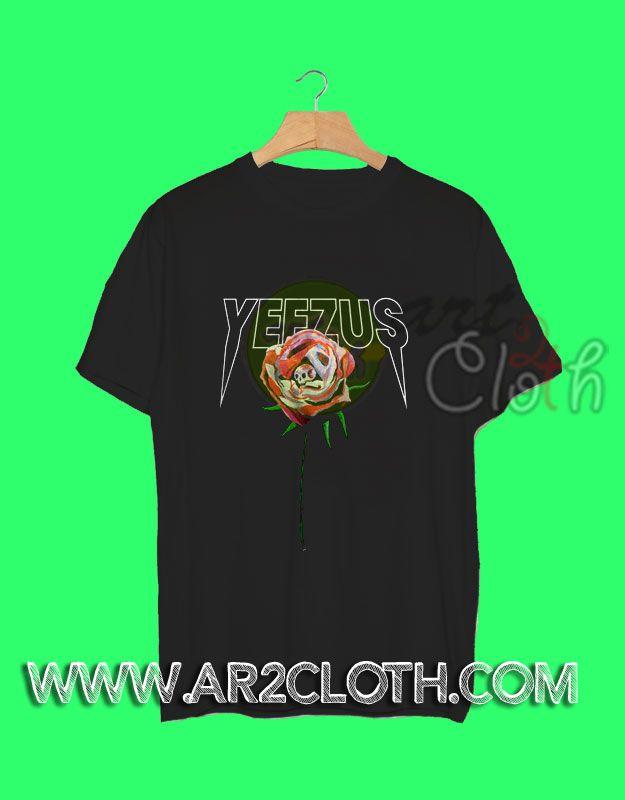 Kanye West Yeezus Tour Rose T-Shirt //Price: $12 //     #Tshirt