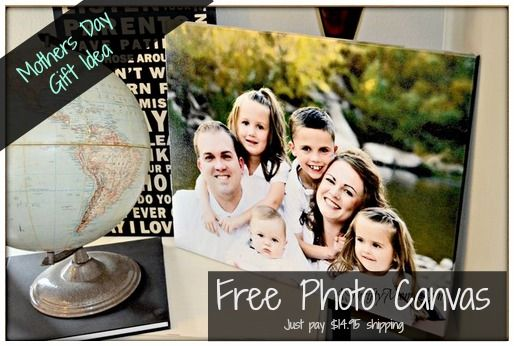 free photo canvas FREE PHOTO CANVAS 8X10 ~ MOTHERS DAY GIFT IDEA (JUST PAY S&H)