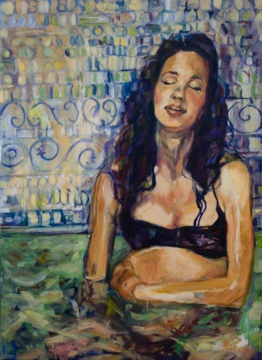 Beautiful paintings portraying child birth.