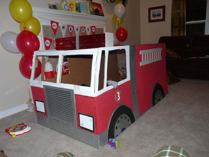 How To Build A Fire Truck Out Of Cardboard